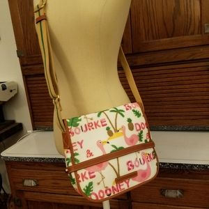 Rare Dooney & Bourke flamingo crossbody